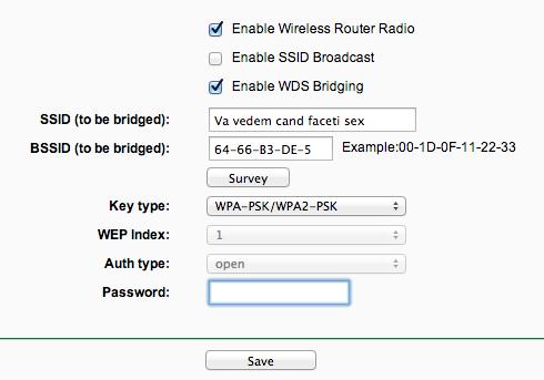 router to bridge1