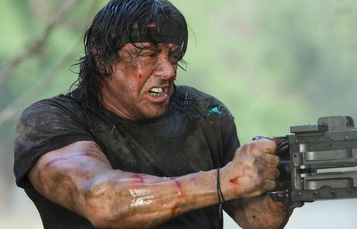 Rambo ... Sylvester Stallone as the action hero.