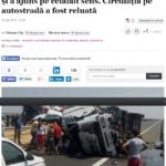 VIDEO FOTO Grav accident pe A2. Un bărbat a murit  după ce un TIR a explodat şi a ajuns pe celălalt sens. Circulaţia pe autostradă a fost reluată   adevarul.ro