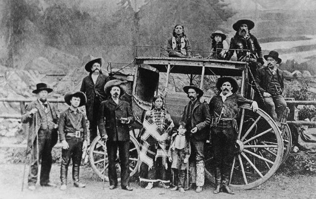 Original caption: USA: Cody's Original Wild West Show. 1883-1900 USA