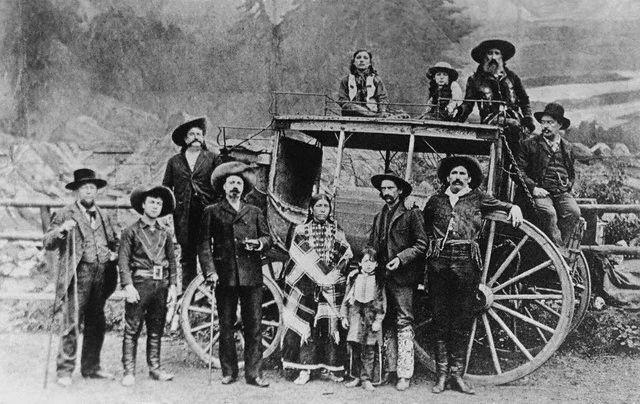 Original caption: USA: Cody's Original Wild West Show. 1883-1900 USA
