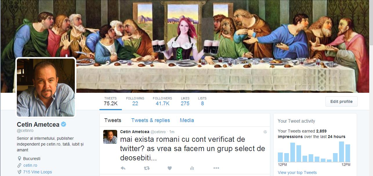 cetin ametcea cont verificat de twitter