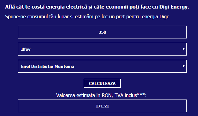 digi energy costuri si taxa tc